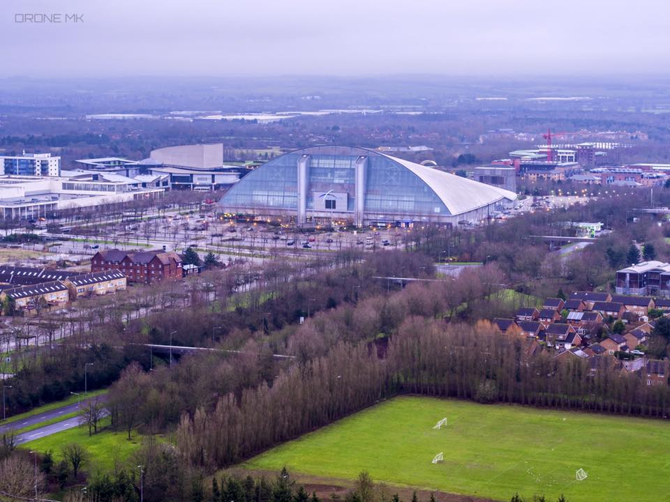 Milton Keynes Xscape Birds Eye View